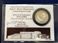 Buzz Aldrin Lecture, Jack C. Davis Observatory 1ozt. Silver Commemorative Coin