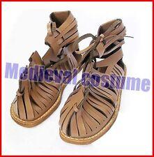 Medieval Roman Leather Sandal Caligae Light Brown Color Size A224