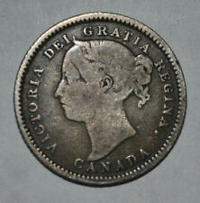 1886 Canada 10 Cents OT5  Large Knobbed 6 (G361e)