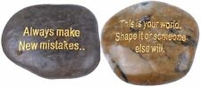 Holy Land Market Encouragement and inspirational engraved river stones set from