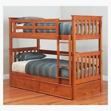 FORT KING SINGLE TIMBER BUNK BED ONLY
