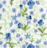 4 Motivservietten Servietten Napkins Tovaglioli 33x33cm Blaue Blumen (902)