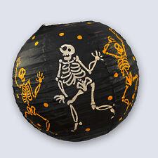 30cm Large Halloween Paper 3D Hanging Decorations Black Skeleton