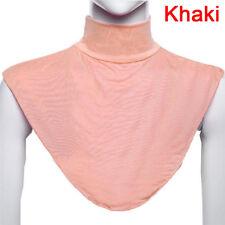 False Collar Hijab Moslem Islamic Pure Color Neck Cover Loop Scarf Charming FNT Coffee