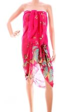 Pink Butterfly Sarong Ladies Large Scarf Scarves Shawl Wrap Beach Cover 6x4ft