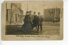 Eureka PA Rare RPPC Bucks County Montgomery MEAT MARKET Post Office Photo 1908