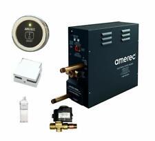 Amerec AK 7.5 KW Steam Bath Generator with R30K On/Off Control in Brushed Nickel
