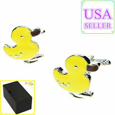 Cuff Links With Gift Box Hot Sale Men Cufflinks Yellow Duck