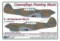 AML 1/48 Curtiss P-40 Kittyhawk Mk.IA No.75 Sqn RAAF Camouflage Painting Masks #