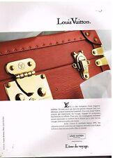 Publicité Advertising 1992 Maroquinerie mallette Cuir Louis Vuitton