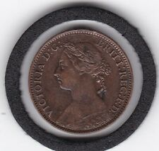 1891   YH   Queen  Victoria   Farthing   Bronze  Coin