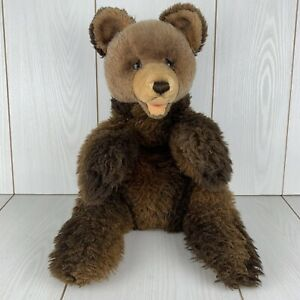 Vintage Steiff Teddy Grizzly Bear Brown 20-inch Stuffed Animal Plush Collectible