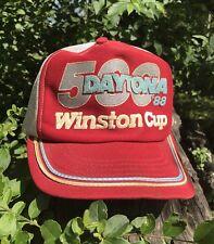VTG DAYTONA 500 WINSTON CUP 1988 HAT NASCAR RACING TEAM RACE TRUCKER SNAP CAP FL