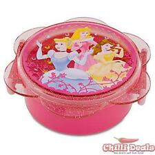 Pink Disney Princess Cinderella, Sleeping Beauty, Belle Lunch Box Food Container