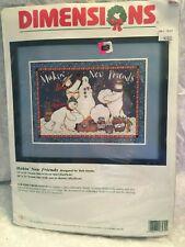 count cross stitch kit Makin' New Friends Dimensions. Snowmen.  New opened. 1998