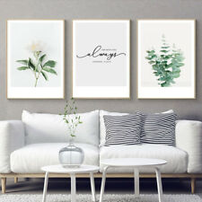 3 Piece Canvas Prints - Romantic Love Plants Life Quotes Art Wall Decor Unframed