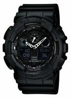 Casio GA100-1A1 Men's G-Shock Black Resin Strap Anti-Magnetic Ana-Digital Watch