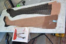 vintage stockings full fashioned 3pr garter 9x30 blackfoot patterned nwt nos