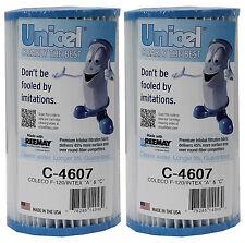 2) Unicel C-4607 Coleco Krystal Klear Intex A or C Replacement Filter Cartridges
