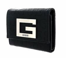 GUESS Brightside SLG Small Trifold Geldbörse Black Schwarz Neu