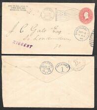 1900 Cover - Postal Stationery Entire - Machine Cancel, Flag - Spokane, WA