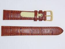 DI-Modell Genuine Calf Leather Crocodile Grain 18 mm Gold Color Watch Band GOBI