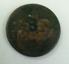 Ile Bourbon B countermark host 1802 us draped bust large cent ref 1966Gibbs sale