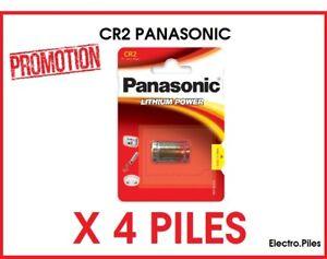 PROMO  !!Lot de 4 piles spéciales photos CR2 3V lithium Panasonic
