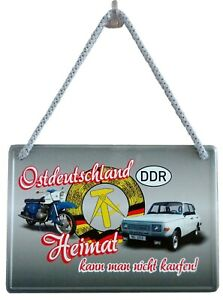 Blechschild Hängeschild 16x11cm Ostdeutschland DDR Heimat kann man nicht kaufen