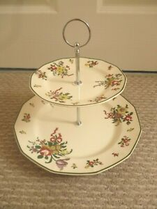 ROYAL DOULTON OLD LEEDS SPRAYS PATTERN  2 TIER CAKE STAND