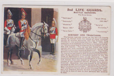 2nd Life Guards - Battle Honours - History &Traditions - Military Postcard