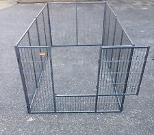 Galvanised Puppy Run 8ft x 4ft Dual Coated