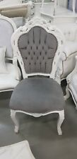 CHAIRS FRANCE BAROQUE STYLE DINING ROYAL CHAIR WHITE / GREY #60ST5