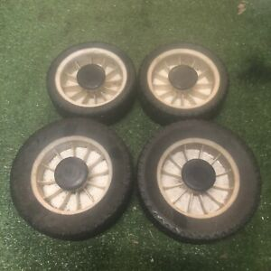 Victa Lawn Mower Lawnmower Wheels X 4 150 And 175 With Clips 2 Stroke 4 Stroke
