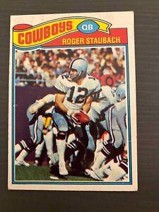 Roger Staubach Topps 1977 Football Card