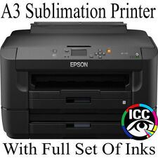 A3 EPSON DYE SUBLIMATION PRINTER WITH CISS AND FULL SET INK-PRO SUBLI INK BUNDLE