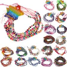 Job Lot Wholesale Braided Friendship Bracelets Girls Boys Party Bag Fillers