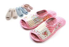 NEW Soft Cotton Slippers Shoes Home Indoor Ladies Women House Non-slip