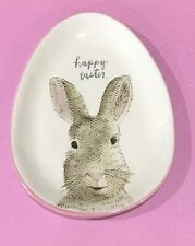 RAE DUNN Easter Bunny Egg Shaped Plate. So Cute! NEW