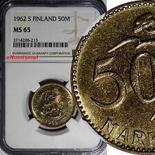 Finland 1962 S 50 Markkaa NGC MS65 Better Date Mintage-405,000 LAST YEAR KM# 40