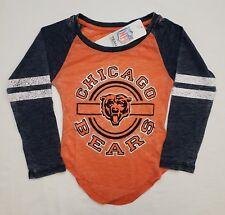 NWT Chicago Bears NFL Team Apparel Youth Girls LS Tee Shirt | XS (4/5)