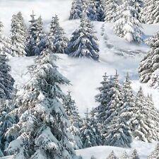 1 yard Winter Trees Elizabeth's Studio Cotton Quilt Fabric 215 White