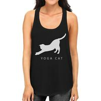 Yoga Cat Tank Top Yoga Work Out Tank Top Cute Gift For Cat Lady