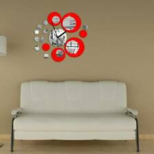 Removable 3D Mirror Wall Stickers Circle Decal Art Mural Home Room DIY Decor Q
