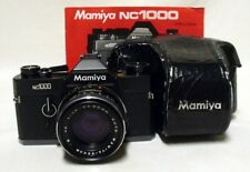 MAMIYA NC1000 35mm SLR Film Camera w/1.7 50mm CS Lens Tested Meter Works w/Case