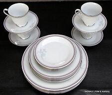 NORITAKE china MALVERNE Iris 4 X 5 PIECE SETTINGS 20 PIECE SET dinner for 4 or 8