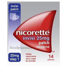 Nicorette Invisi 25mg 14 Patch Multibuy 1 2 3 6 12 Packs  Expiry-- March 2022