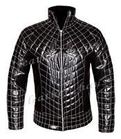 Genuine Leather The Amazing Spider Man 2 Men's Stylish Black Costume Jacket #532