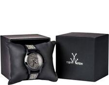 TOY WATCH 133433 Womens Black Swarovski Crystal Bezel Silicone Strap 38 mm Watch