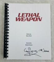 """Gary Busey """"Mr. Joshua"""" Autograph Signed Lethal Weapon Full Movie Script 1987"""